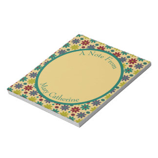 Granny Flowers Personalized Notepad