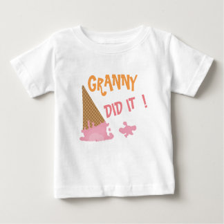 GRANNY ICE-CREAM CONE STAIN, INFANT BABY TODDLER BABY T-Shirt