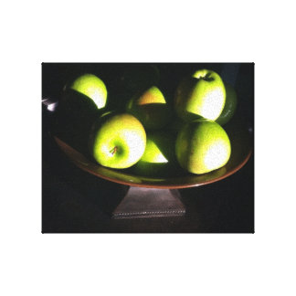 GRANNY SMITH APPLES GALLERY WRAPPED CANVAS
