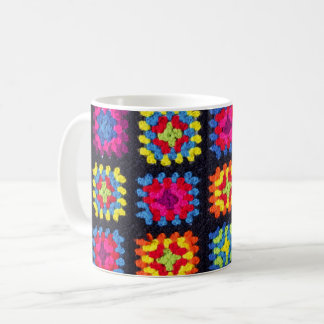Granny Square Coffee Mug - Crochet Coffee Mug