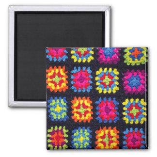 Granny Square Magnet - Crochet Magnet
