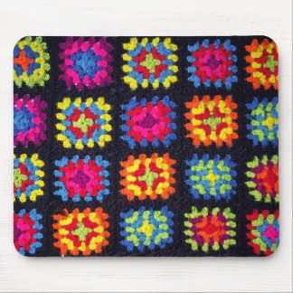 Granny Square Mousepad - Crochet Mousepad