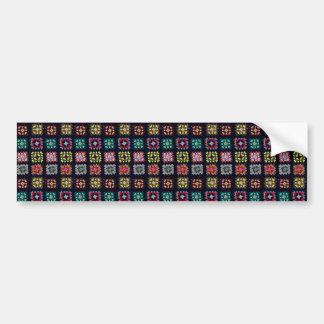 Granny squares bumper sticker