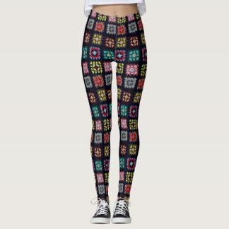 Granny squares leggings