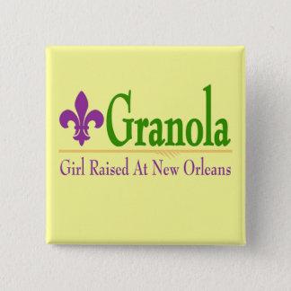 Granola, Girl Raised At NOLa 15 Cm Square Badge