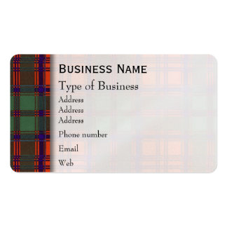 Grant clan Plaid Scottish tartan Pack Of Standard Business Cards