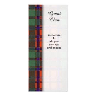 Grant clan Plaid Scottish tartan Rack Card Template