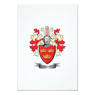 Grant Family Crest Coat of Arms Card