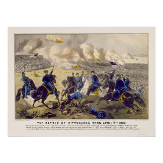 Grant Leading a Charge by  1862 Poster
