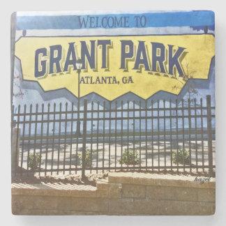 Grant Park, Atlanta, Welcome, Blue Mural, Coasters