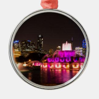 Grant Park Chicago Silver-Colored Round Decoration