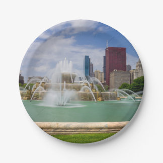 Grant Park City View 7 Inch Paper Plate