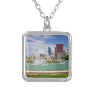 Grant Park City View Silver Plated Necklace