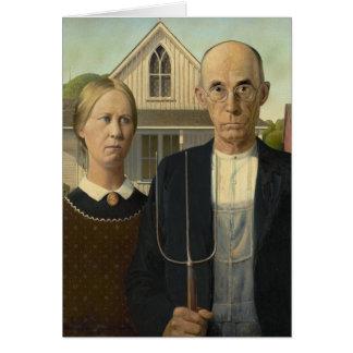 Grant Wood American Gothic Card
