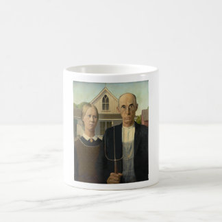 Grant Wood - American Gothic Coffee Mug