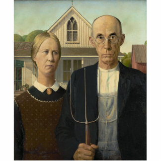 Grant Wood - American Gothic Cut Outs