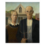 Grant Wood - American Gothic Posters
