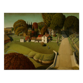 Grant Wood - The Birthplace of Herbert Hoover Postcard