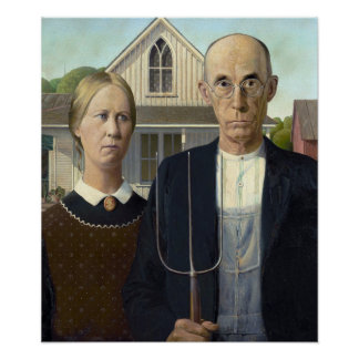 Grant Wood's American Gothic Poster