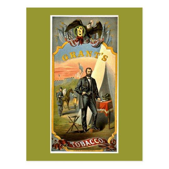 Grants Tobacco ad vintage 1874 Postcard