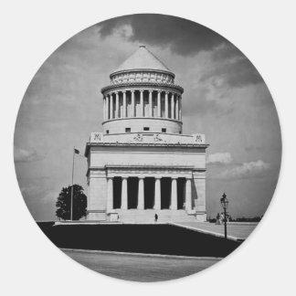 Grant's Tomb Vintage Photo Round Sticker