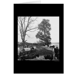 Grant's Wilderness Campaign Wagon Train 1864 Greeting Card