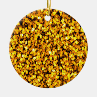 Granular Golden Ceramic Ornament