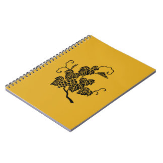 Grape branch spiral notebook
