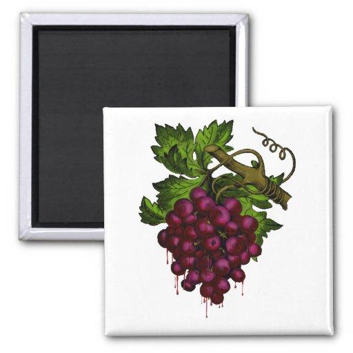 Grape Bunch Dripping Blood Refrigerator Magnet