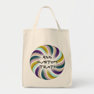 Grape Carrot Candy Swirls Tote Bags