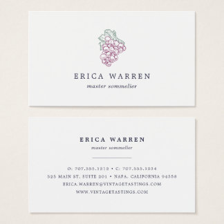 Grape Cluster | Sommelier or Wine Industry Business Card