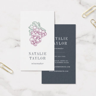 Grape Cluster | Sommelier | Winemaker | Winery Business Card