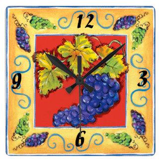 Grape Cluster wall clock