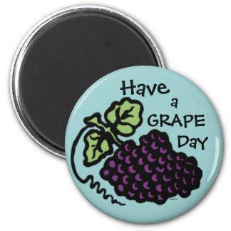 Grape Day Fridge Magnet