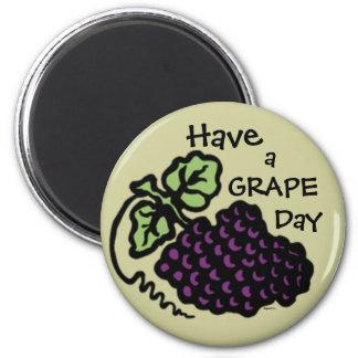 Grape Day Refrigerator Magnet
