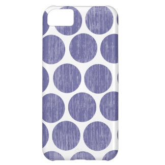 Grape Distressed Polka Dot iPhone iPhone 5C Case