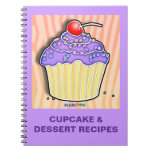 Grape Frosted Cupcake Recipe Notebook