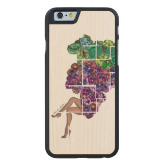 Grape Gems Carved Maple iPhone 6 Case