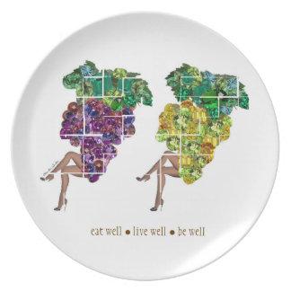 Grape Gems Plate