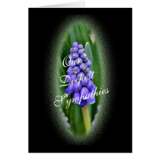Grape Hyacinth 388 on Blk- customize any occasion Card