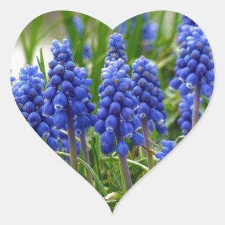 Grape Hyacinth Heart Sticker