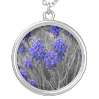 Grape Hyacinths Family Select Silver Plated Necklace