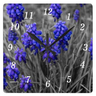 Grape Hyacinths Family Select Square Wall Clock