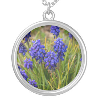 Grape Hyacinths Family Silver Plated Necklace