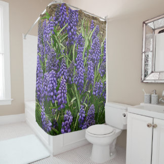 """GRAPE HYACINTHS"" SHOWER CURTAIN"