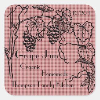 Grape Jam Jar Label (Customise)