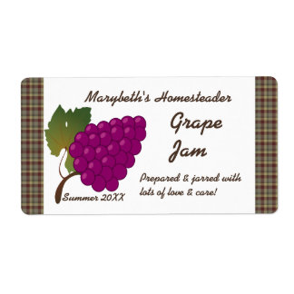 Grape Jam Jar Label (Customize) Shipping Label