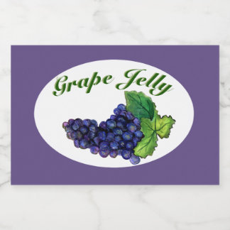 Grape Jelly and Jam Label Dark Purple