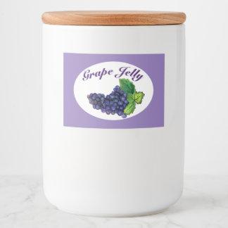 Grape Jelly and Jam Label Purple
