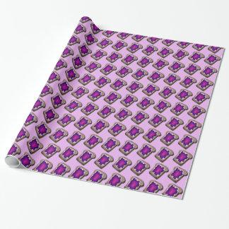Grape Jelly Toast Bread Breakfast Purple Gift Wrap